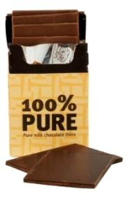 100% Pure Milk Chocolate Thins, $7.50