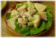 click here for complete recipe's of the Waldorf Salad as an entree and two additional modern versions.